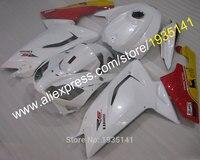Hot Sprzedaży, zestaw Owiewki Dla Aprilia RS 2007-2011 R 125 2007 2008 2009 2010 2011 biały czerwony żółty body kit (formowanie wtryskowe)