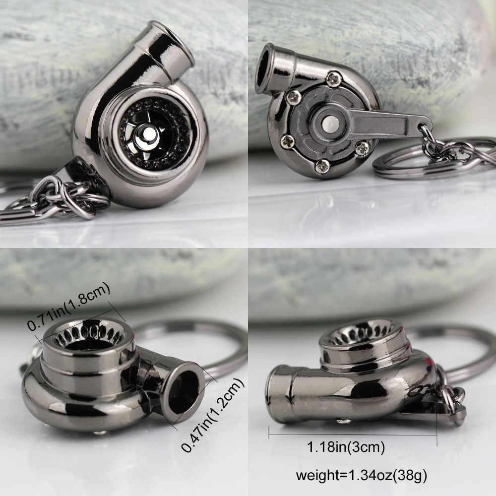 Giratório turbo chaveiro criativo moda fãs favorito manga rolamento turbina turbocompressor chaveiro chaveiro chaveiro keyfob