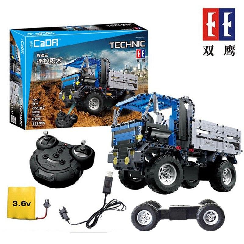 купить DIY Bricks Set Building Blocks Series Toys For Children technic series Dump Truck 8043 Educational Car RC vehicles model онлайн