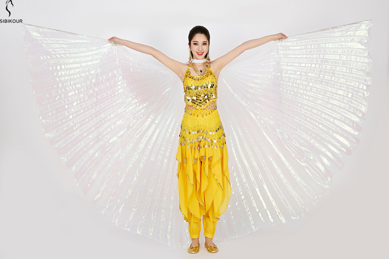 HTB1Bm5wbRiE3KVjSZFMq6zQhVXaZ - Belly Dance Isis Wings Belly Dance Accessory Bollywood Oriental Egypt Egyptian Wings Costume With Sticks Adult Women Gold