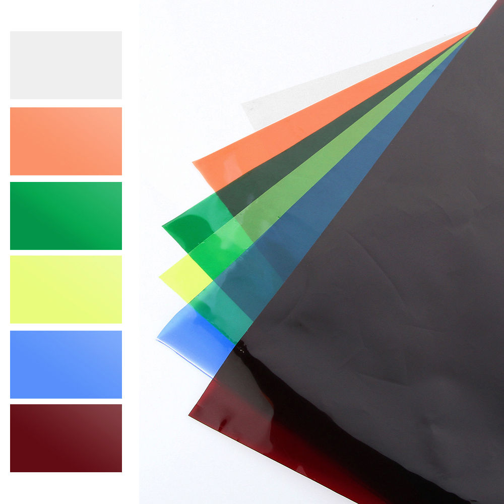 "Colors Lighting Filter Gel Sheets 16'x20"" For Video Camera Studio Photography"