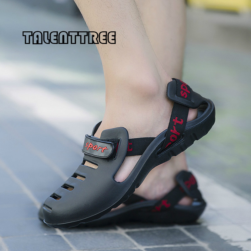 Big Size New Design Summer Men Beach Water Sandals Students Outdoor Waterproof Slippers Solid Youth Cool Breathable Lazy shoes