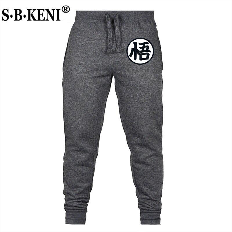 Hot Sale Funny Print Dragon Ball Goku Mens Pants Cotton Autumn Winter Gray Men Joggers Sweatpants Plus Size Black Trousers