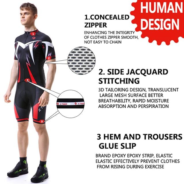 X-TIGER 2020 conjunto de camisa de ciclismo estrada mountain bike ciclismo conjunto roupas mtb da bicicleta roupas esportivas terno ciclismo conjunto para mans 2