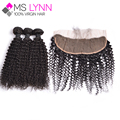 7A Indian Virgin Hair Kinky Curly With Closure Ear To Ear Lace Frontal Closure With Bundles,mslynn Hair Human Hair With Closure