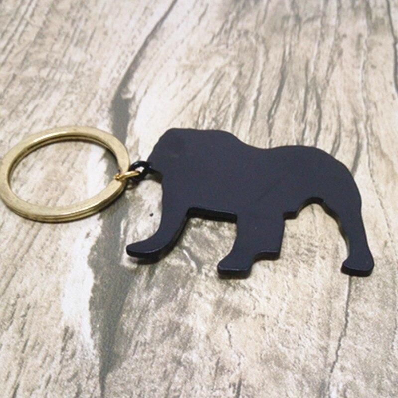 Bulldog keychain Custom all kinds of animal key chain The black metal jewelry birthday surprise