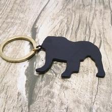 Бульдог брелок Пользовательские все виды животных брелок черный металлические украшения день рождения сюрприз подарки для мужчин