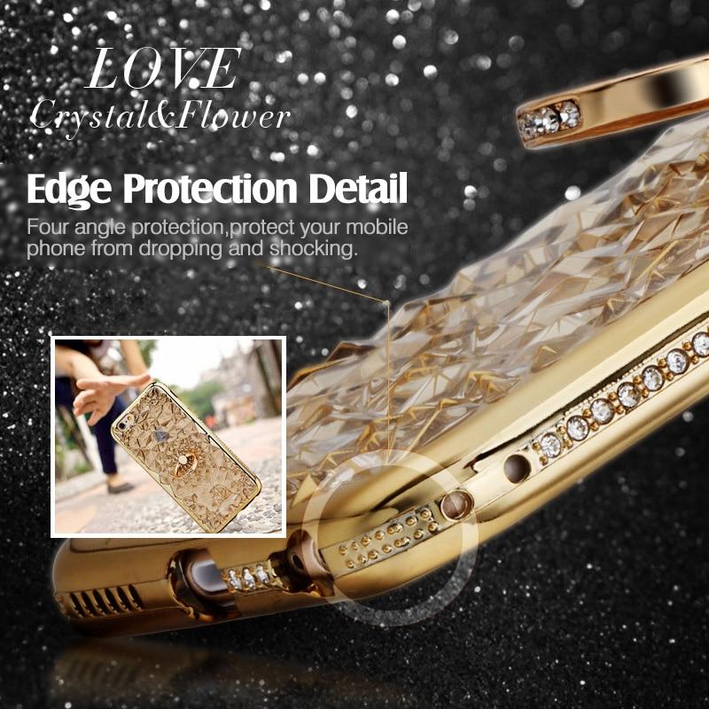 För iPhone 6S Fodral Glitter Crystal Rhinestone Bling Väska för - Reservdelar och tillbehör för mobiltelefoner - Foto 6