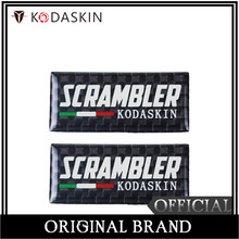 KODASKIN Motorcycle 3D Carbon Timing Belt Cover Front and Rear Round Decal for Ducati Scrambler