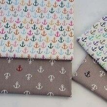 81140d230 160 CM * 50 CM tela de algodón de estilo marino color gris ancla para DIY  cuna ropa de cama cojín hoja de talla acolchado hecho .