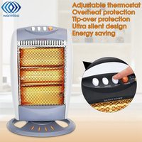 Household Electric Heater Instant Heating Office Halogen Heater Warmer EU plug 3 Switch Overheat Protection 220 240V