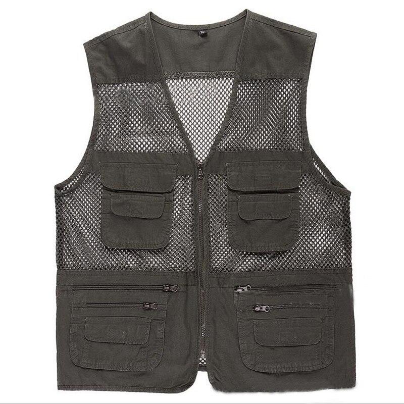 Multi pocket Fly Mesh Fishing Vest Quick Drying Multifunctional Photography Jacket Vest Customizable Fishing Coats Vests chaleco
