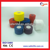 FACTORY OFFER M 3.8cm x 10m RIGID cotton athletic tape lot sport tape safety sport adhesive tape colorful tape