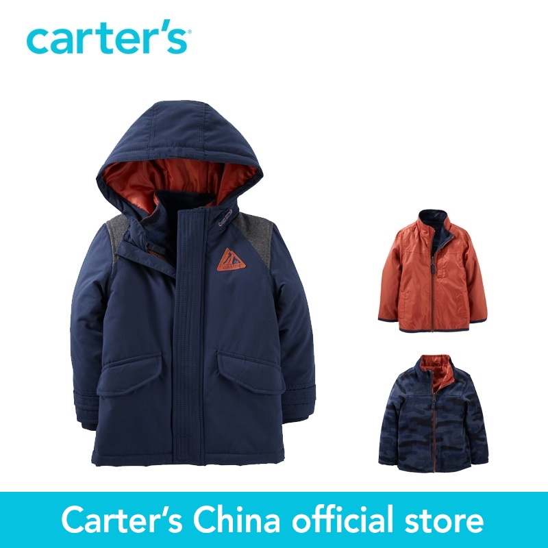 Carter's 1pcs baby children kids 3-in-1 Jacket CL166X31,sold by Carter's China official store carter s 1 pcs baby children kids long sleeve embroidered lace tee 253g688 sold by carter s china official store