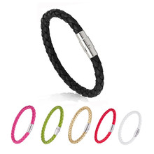 Braided Men Leather Bracelet Simple  Button Neutral Accessories Hand-woven Bangles for woman Jewelry Gifts
