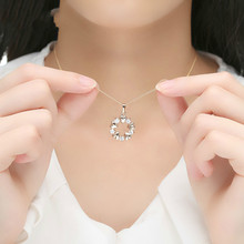 Luxury  Gold Color Heart Necklaces & Pendants with AAA Zircon For Women Anniversary Jewelry JIN018