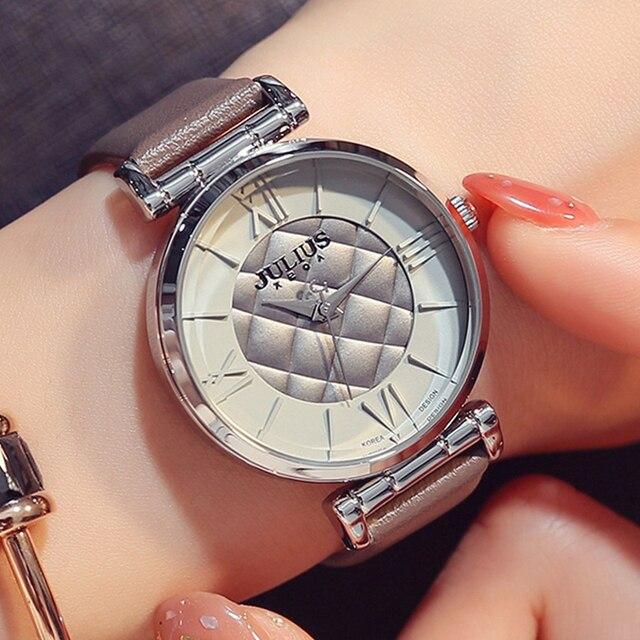 b45704240dcf JULIUS creativo Vintage relojes mujeres marca de lujo reloj de oro moda  Casual cuarzo relojes impermeable