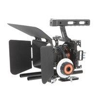 Viltrox vx 11 видео Клетки для камеры Камера стабилизатор и Приборы непрерывного изменения фокусировки камеры Matte Box для Sony A9 A6500 a7iii A7R DSLR с холодно