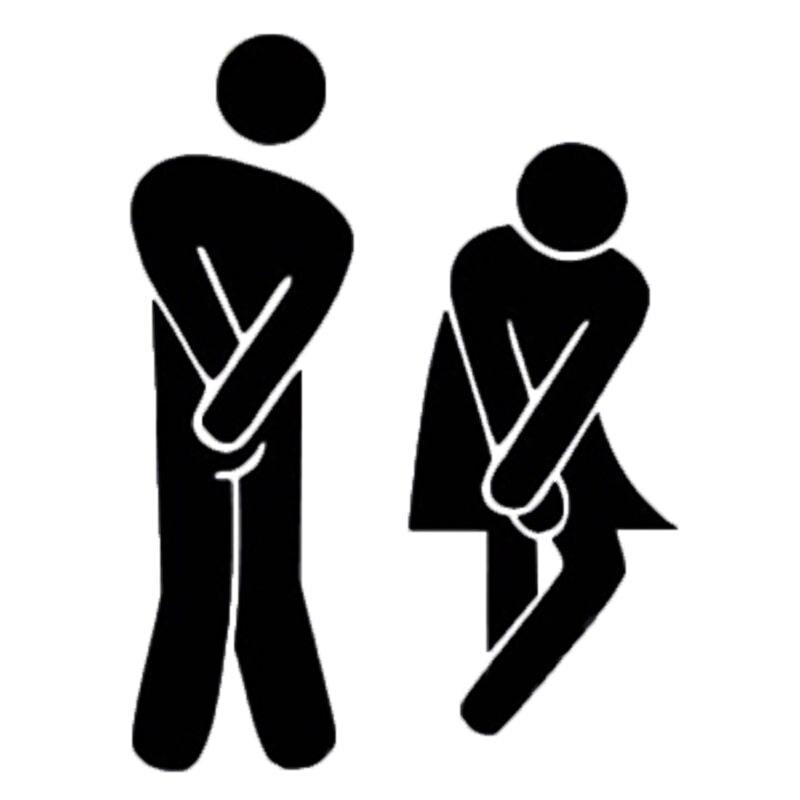 aliexpress : buy 2sets new funny toilet door sign sticker door