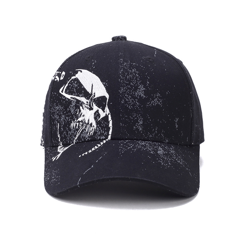 High Quality Unisex 100% Cotton Baseball Cap Outdoor Skull Printing Hip Hop Dad Hat Fashion Sports Hat Cap For Men & Women new 2017 hats for women mix color cotton unisex men winter women fashion hip hop knitted warm hat female beanies cap6a03