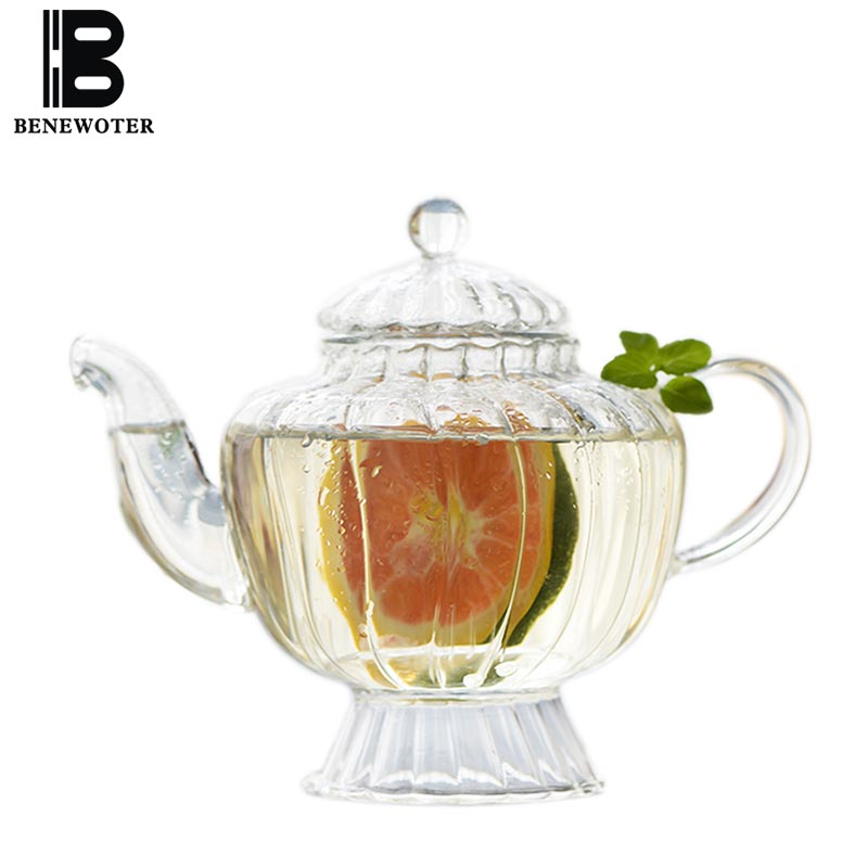 550 ml Style japonais brève théière en verre résistant à la chaleur citron Fruit jus lait café fleur thé Pot maison bureau bouilloire Drinkware