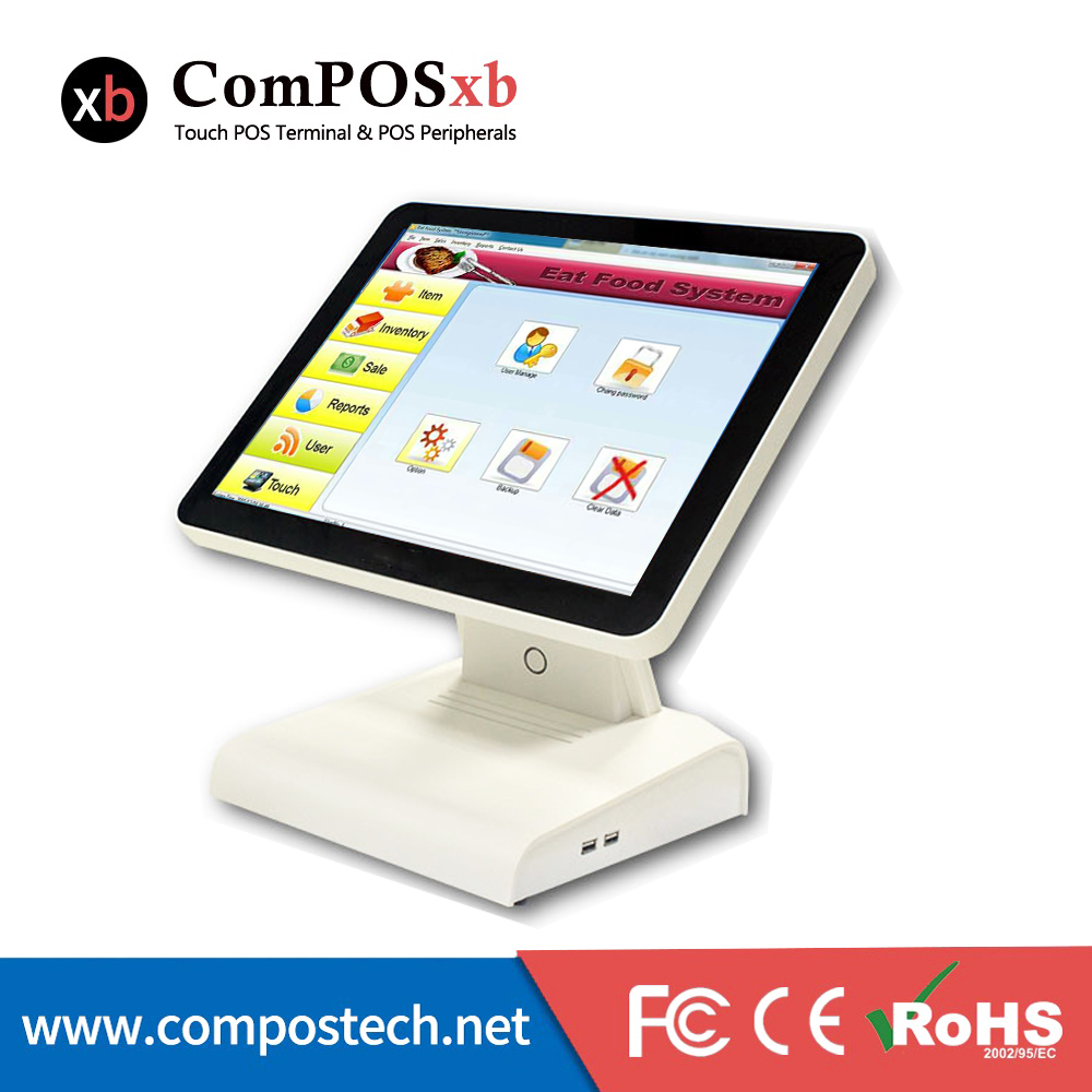 15 Inch Newest Ordering Pos Terminal All In One Touch Screen POS Machine Cash Computer For Restaurant Supermarket POS1619 free software 12 15 all in one touch screen android desktop pos terminal restaurant pos machine cheap pos sytem
