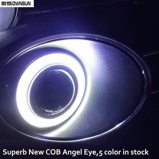 Фото светодиодный cob ангел глаз кольца фронтальный проектор объектива