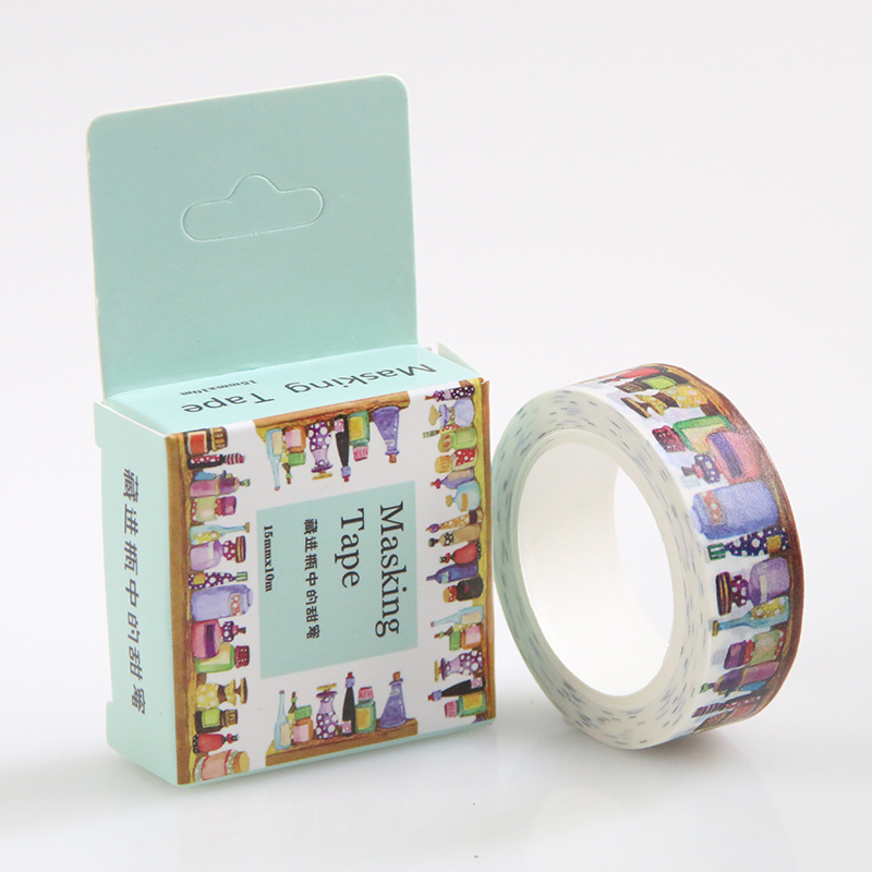 15 Mm*10m Diy Hid The Bottle Of Sweet Washi Tapes / Masking Tape / Decorative Adhesive Tapes / School Supplies