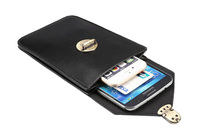 Man Belt Clip Outdoor Pouch Mobile Phone Leather Case Bags For Sony Xperia Z3 Dual Z3