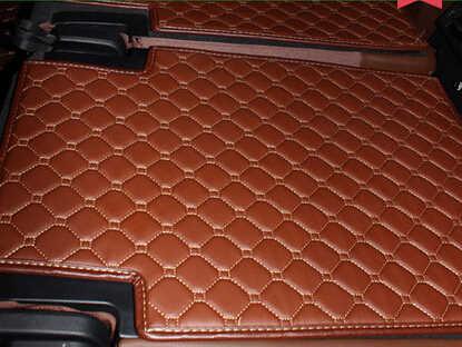 Hoge kwaliteit matten Volledige set kofferbak matten voor Nieuwe Audi Q7 7 zetels 2017 waterdichte lijnvervoer boot tapijten voor audi Q7 2016 styling