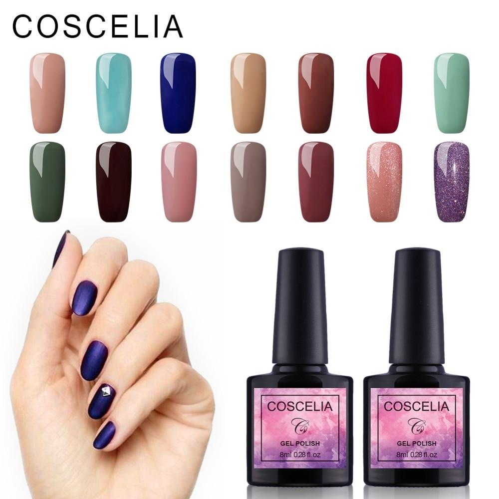 40 pc/lot Nail Gel Polish Soak Off Gel UV LED Vernis À Ongles UV Gel Nail Polish Long Lasting Beauté Salon nail Art Gel Polish UV