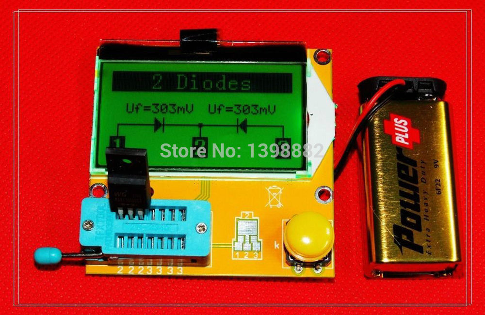 font b Multimeter b font LCD Backlight Transistor Tester Diode Triode Capacitance ESR Meter MOS