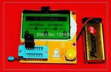Multímetro LCD Backlight Transistor Tester diodo triodo capacitancia ESR Meter MOS PNP NPN LCR