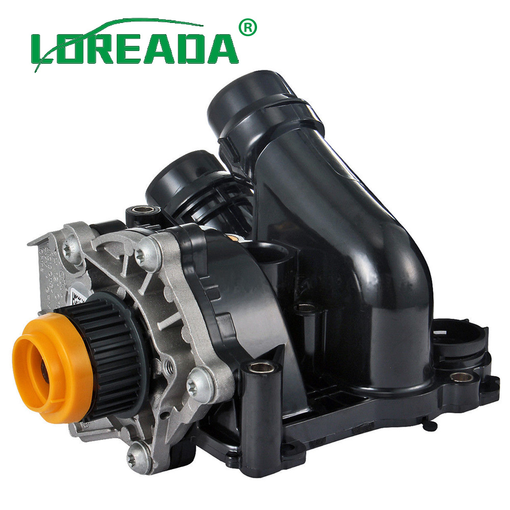 LOREADA 06H121026BA 06H121026AF Cooling Water Pump Thermostat Assembly For Audi A4 A5 Quattro Golf Passat