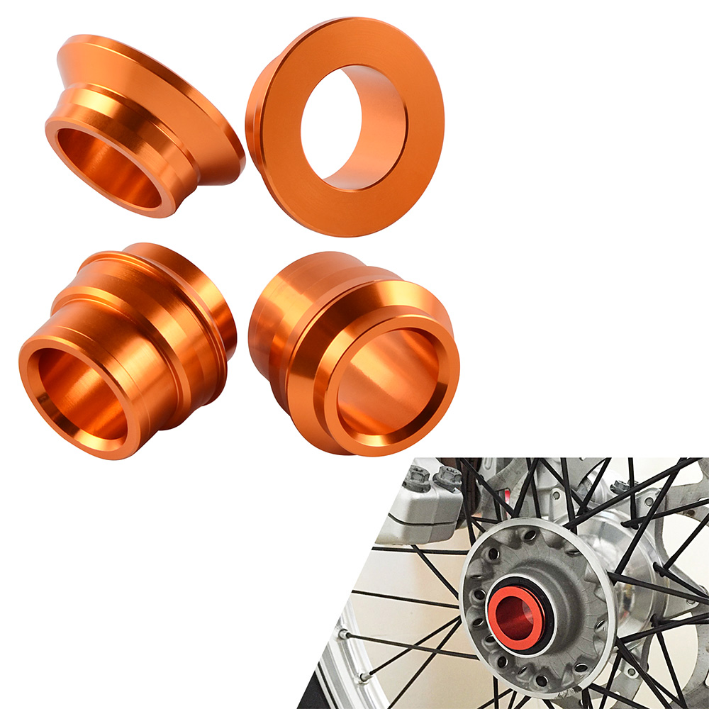 Motorcycle CNC Front Rear Wheel Spacers Hub Collars For KTM 125 200 250 300 350 400 450 SX SXF SX-F 2015 2016 2017 2018 все цены