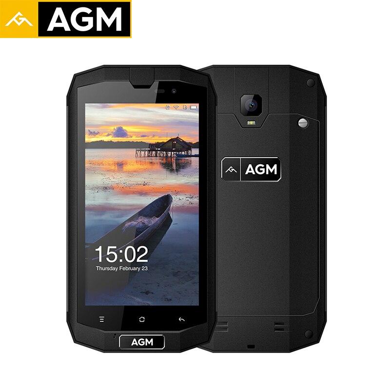 Original AGM A1Q Quad Core 4G Smartphone QUALCOMM MSM8916 64G ROM 4G RAM 5.0 Inch IP68 Water Dust Shock Proof Mobile Phones 13MP