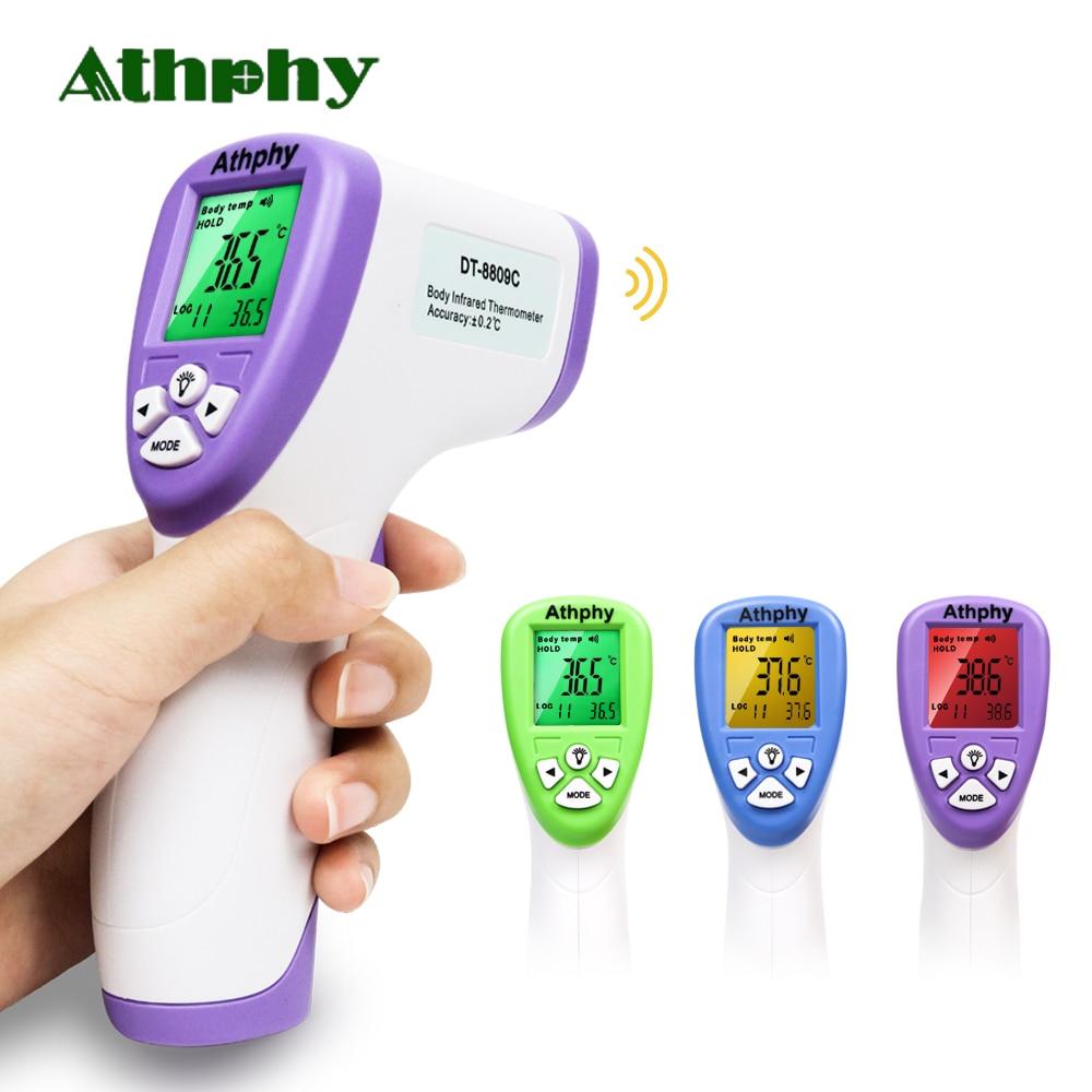 Athphy termômetro infravermelho bebê digital lcd testa orelha não-contato febre do corpo medição multi modo termômetro termometro