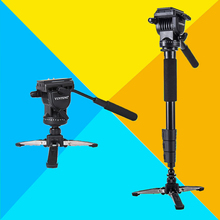 Big sale Yunteng VCT-588 Photography Monopod With Fluid Pan Head Quick Release Plate & Unipod Holder for Camera Camcorder Update of 288