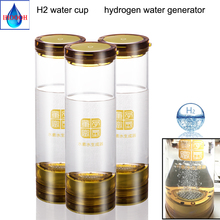 hydrogen water generator alkaline ionizer SPE membrane electrolysis H2 and O2 bottle USB