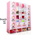 20 cubes Cartoon plastic children's wardrobe cabinet Easy DIY wardrobe closet plastic wardrobe wardrobes for sale