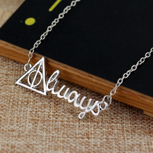 Deathly Hallows silver letter pendant Necklaces for men and women Party Accessories Gift Cheaper price Free Shipping
