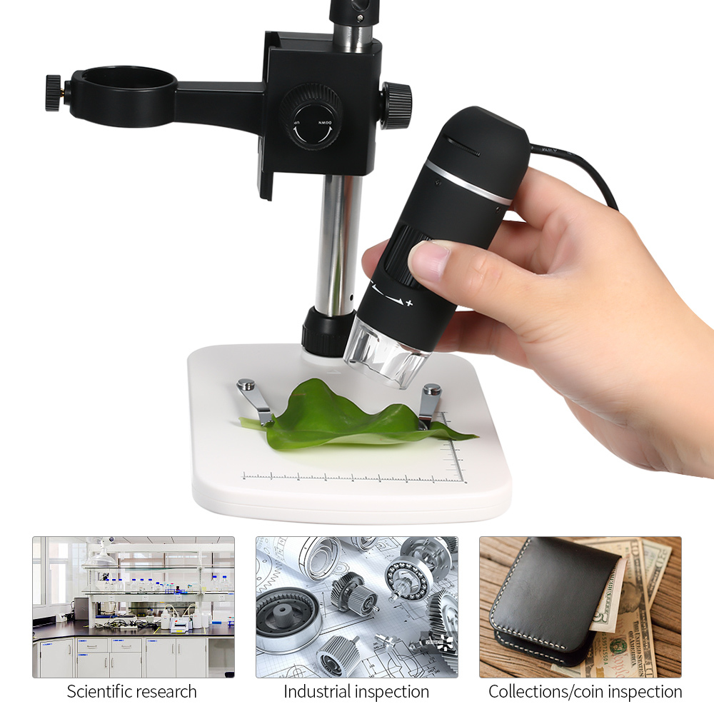 Digital Microscope 300X USB Microscope 8 Led Magnifier Magnification Brightness Adjustable Stand Microscopes With 8 LED Light