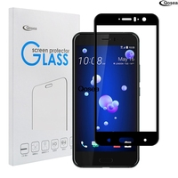 Qosea For HTC U11 Tempered Glass Screen Protector 2 5D 9H Ultra Thin Electroplated Explosion Proof