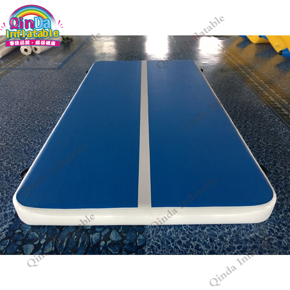 4*2*0.2m air tumble track for gymnastics,free air pump inflatable gym mat with 1.0mm DWF material free shipping 6 2m inflatable tumble track trampoline air track gymnastics inflatable air mat come with a pump