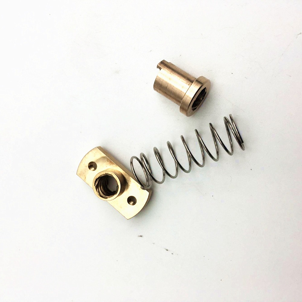 1pcs*anti-back Lash TR8 Lead Screw Brass Nut For Upgrade CR-10/Tornado And Clone 3D Printer Anti Backlash  Spring Loaded Nut