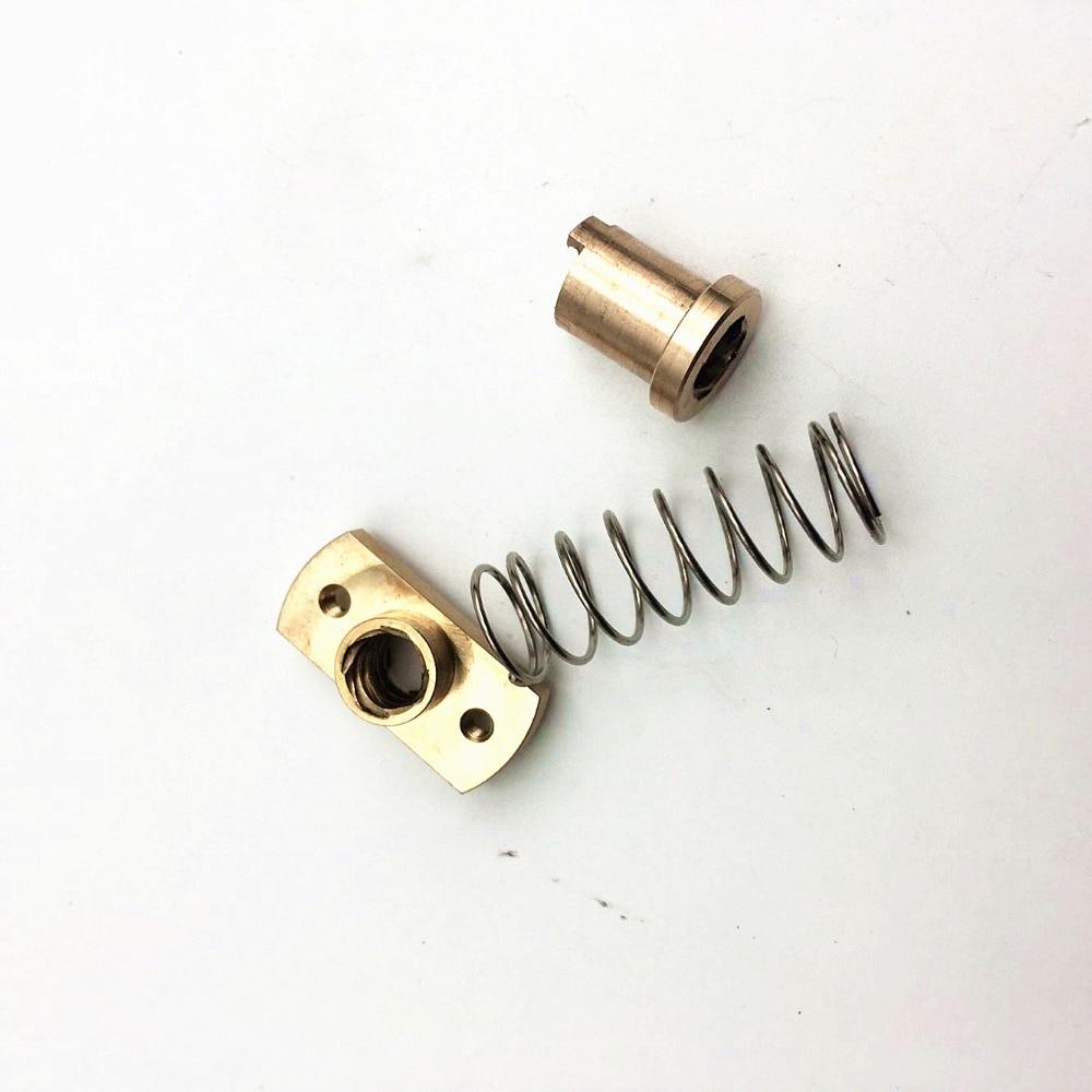 1pcs*anti-back Lash TR8 Lead Screw Brass Nut For Upgrade CR-10/Tornado And Clone 3D Printer Anti Backlash  Spring Loaded Nut