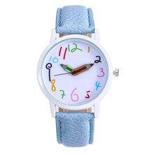 Студенческие цифровые часы с кожаным ремешком, Забавные часы, указка карандаша, женские часы, черные часы, relogio feminino lapices relojes mujer