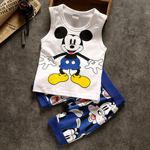 Spring Kids Suit Cartoon Mickey Sleeveless Childrens vest
