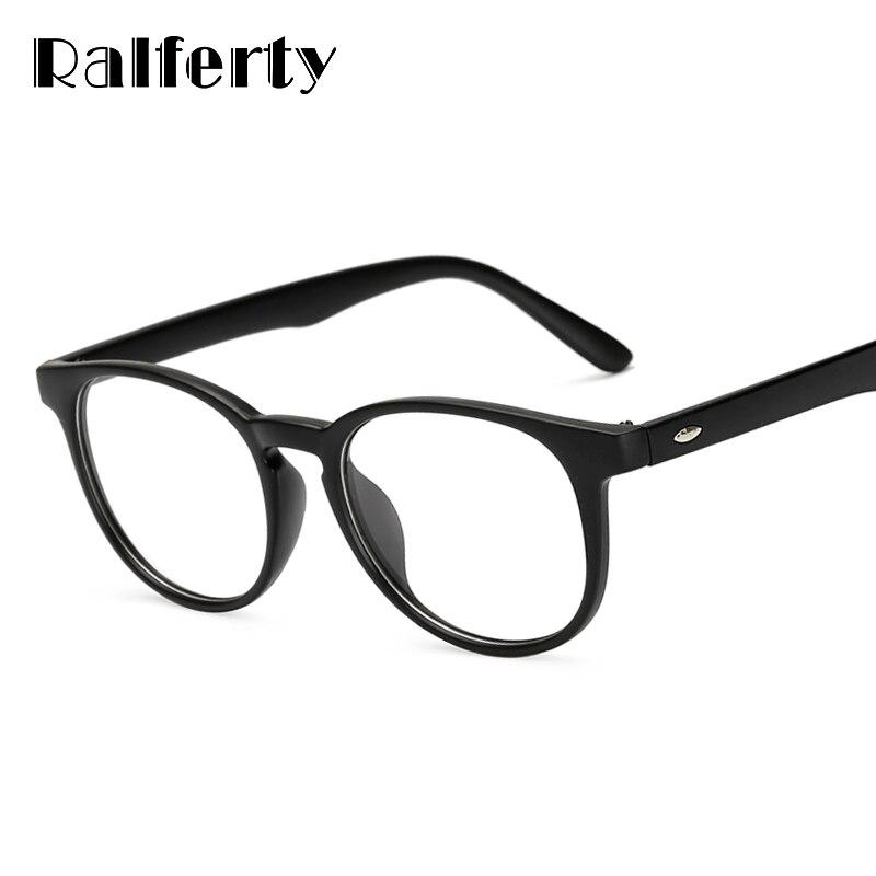 382b4c6ee5de4 Ralferty Unisex Vintage Rotondi Occhiali da Vista Con Lenti Trasparenti,  donne Uomini Specchio della Pianura Miopia Prescrizione Ottica Occhiali  Telaio
