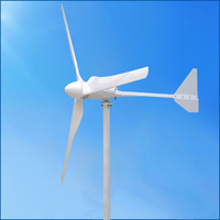 2KW Wind Mill Wind Turbine Power Generator With High Quality DC Charge Controller For Home Projects use
